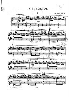 Twenty-Four Etudes, Op.32: Para Piano by Henri Jérôme Bertini