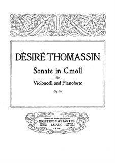 Sonata for Cello and Piano in C Minor, Op.76: Score by Désiré Thomassin