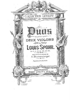 Three Concert Duets for Two Violins, Op.67: Partes by Louis Spohr