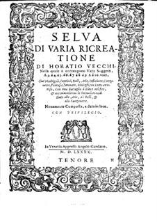 Selva di varia ricreatione: parte tenor by Orazio Vecchi