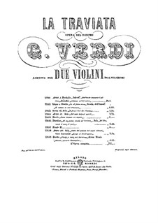 Complete Opera: Version for two violins by Giuseppe Verdi