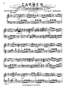 Toreador's Song: para piano ( A menor) by Georges Bizet