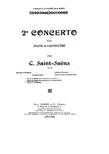 Concerto for Piano and Orchestra No.2 in G Minor, Op.22: versão para piano by Camille Saint-Saëns