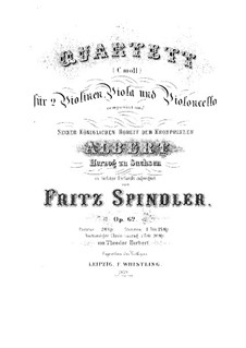 String Quartet in C Minor, Op.62: String Quartet in C Minor by Fritz Spindler