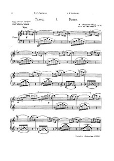 Two Pieces for Piano, Op.53: set completo by Felix Blumenfeld