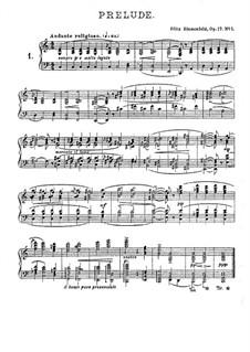 Twenty Four Preludes, Op.17: Preludes No.1-3 by Felix Blumenfeld