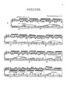 Twenty Four Preludes, Op.17: Preludes No.7-9 by Felix Blumenfeld