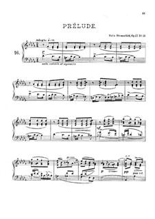 Twenty Four Preludes, Op.17: Preludes No.16-18 by Felix Blumenfeld