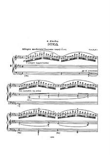 Three Etudes for Piano, Op.3: Three Etudes for Piano by Felix Blumenfeld
