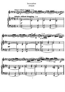 Invocation for Flute and Piano: partituras completas, parte solo by Johannes Donjon