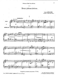 Two Short Pieces for Piano: Two Short Pieces for Piano by Louis Marie Francois Andlauer