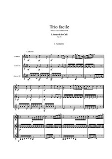 Trio for Three Guitars, Op.26: partitura by Leonhard von Call