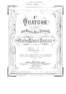 String Quartet No.1 in G Major, Op.21: String Quartet No.1 in G Major by Charles Edward Stephens