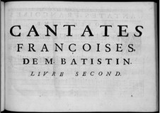 French Cantatas: livro II by Jean-Baptiste Stuck