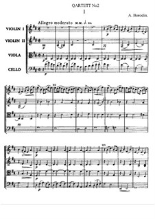 String Quartet No.2 in D Major: partitura completa by Alexander Borodin