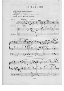 Twelve Pieces-Novellas for Organ, Op.59: No.9 Offertory by Théodore Salomé