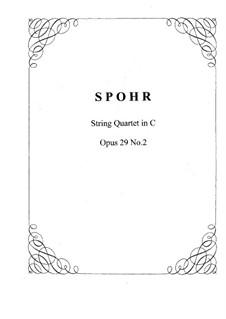 String Quartet No.8 in C Major, Op.29 No.2: String Quartet No.8 in C Major by Louis Spohr
