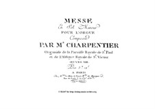 Mass for Organ in G Minor, Op.15: Mass for Organ in G Minor by Jean-Jacques Beauvarlet-Charpentier