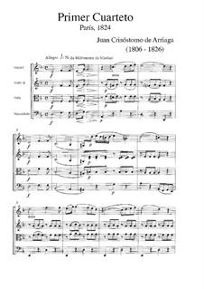 String Quartet No.1 in D Minor: partitura completa by Juan Crisóstomo de Arriaga
