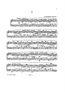 Four Etudes for Piano, Op.44: set completo by Felix Blumenfeld