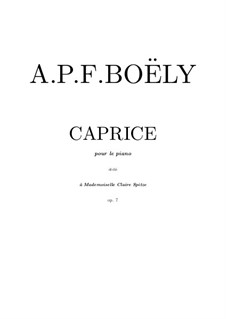 Caprice in A Flat Major, Op.7: para piano (partituras de alta qualidade) by Alexandre Pierre François Boëly