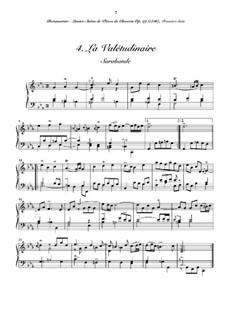 Suite No.1 for Harpsichord: No.4 La valétudiare by Joseph Bodin de Boismortier