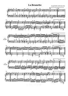 Suite No.4 for Harpsichord: No.4 La brunette by Joseph Bodin de Boismortier