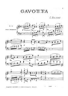 Gavotte: gavota by Giovanni Bolzoni