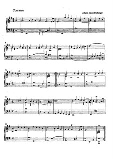 Suite in E Minor: Courante by Johann Jacob Froberger