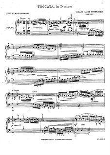 Toccata in D Minor, FbWV 102: Para Piano by Johann Jacob Froberger