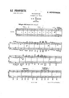 Le prophète (The Prophet): Overture, para piano para quatro mãos by Giacomo Meyerbeer