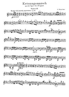 Le prophète (The Prophet): Coronation March – Violin II Part by Giacomo Meyerbeer