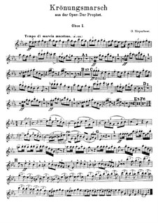 Le prophète (The Prophet): Coronation March – Oboes Parts by Giacomo Meyerbeer
