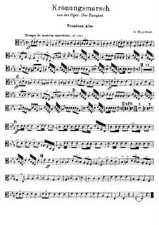 Le prophète (The Prophet): Coronation March – Trombones Parts by Giacomo Meyerbeer