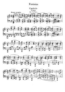 Seven Fantasias, Op.116: set completo by Johannes Brahms
