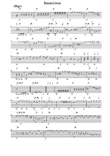 Sonata in B Flat Major for Lute, Violin and Cello: Sonata in B Flat Major for Lute, Violin and Cello by Bernhard Joachim Hagen