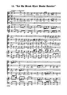 No.41 Let us Break their Bonds Asunder: Para coro misto e piano by Georg Friedrich Händel