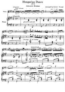 Dance No.7 in F Major: para violino by Johannes Brahms