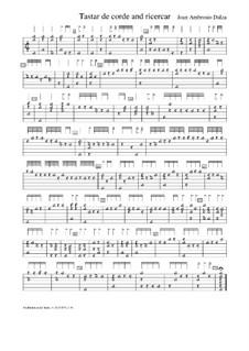 Tastar de corda and Ricercar for Lute, f.6: Tastar de corda and Ricercar for Lute by Joan Ambrosio Dalza
