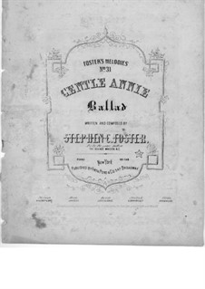 Gentle Annie: em E flat Maior by Stephen Collins Foster