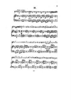 Sonata for Violin and Piano No.3 in D Major, Op.67: movimento III by Hans Huber