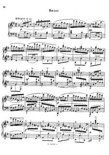 Suite on the Name 'Sascha', Op.2: valsa by Alexander Glazunov