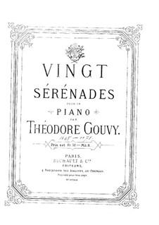 Twenty Serenades for Piano: No.1-7 by Louis Théodore Gouvy