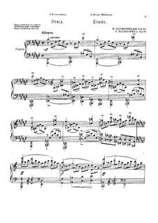 Etude in F Sharp Major, Op.54: Para Piano by Felix Blumenfeld
