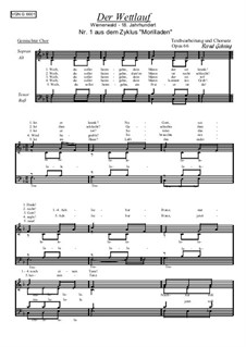 Zyklus Morilladen: Nr.1 Der Wettlauf, Op.66 by folklore