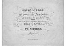 Six Songs, Op.33: seis musicas by Friedrich Silcher