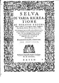 Selva di varia ricreatione: Basso part by Orazio Vecchi