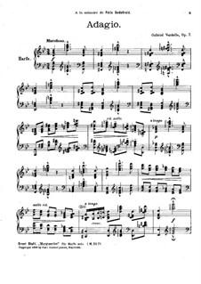Adagio in B Flat Major, Op.7: Adagio in B Flat Major by Gabriel Verdalle