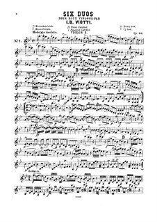Six Concert Duos for Two Violins, Op.20: partes by Giovanni Battista Viotti