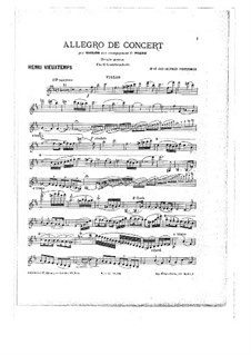 Violin Concerto No.8 'Unfinished': parte Solo by Henri Vieuxtemps